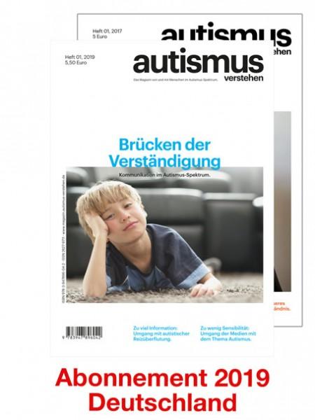 Magazin - Abo 2019 - Versand nach Deutschland